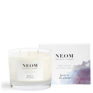情報解禁!ビューティーチェスト2020ネタバレとお得に買う方法【ルックファンタスティック】 NEOM(ネオム)/Real luxury scented candle 185g(現品) £32(円換算:¥4,307)
