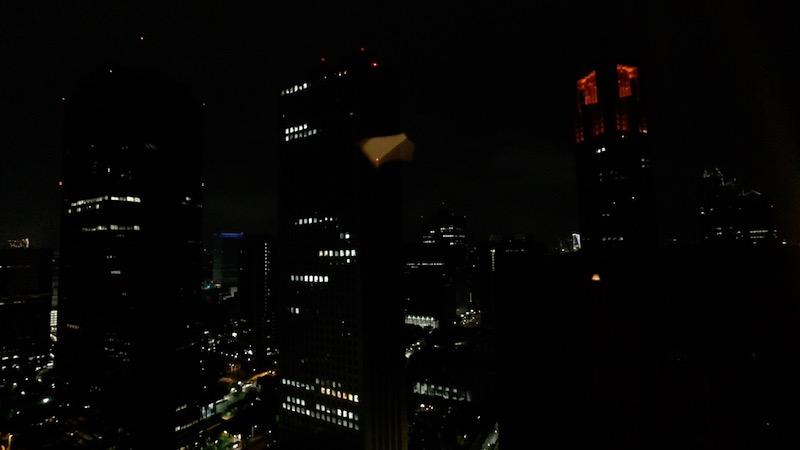 【コロナ禍2020年9月】ヒルトン東京エグゼクティブ&マーブルラウンジと最上階38階宿泊記  夜景