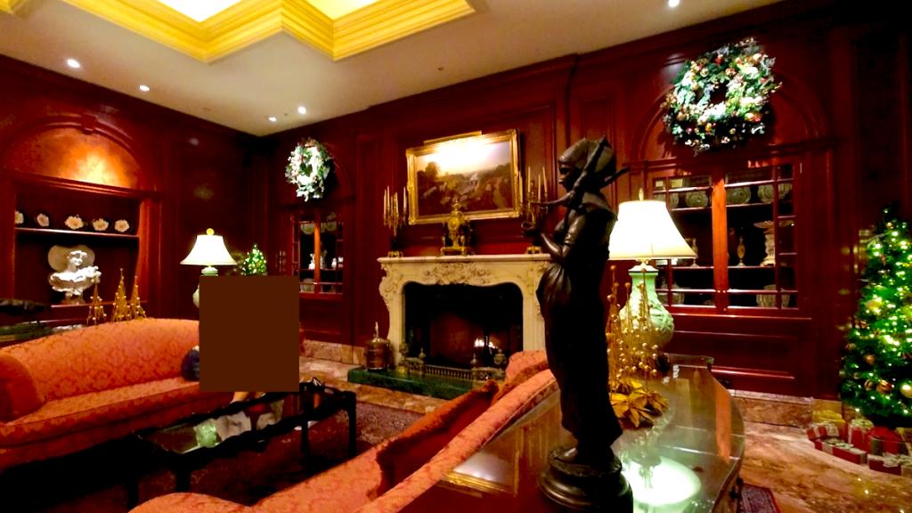 【くま】リッツカールトン大阪アフタヌーンティー!クリスマステディベアティーパーティー【ブログ】ホテル内の様子 暖炉