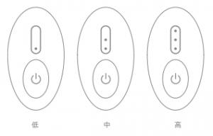唯一の家庭用フラクショナル「トリアスキンエイジングケアレーザー」とは?効果と使い方を解説! トリア「スキンエイジングケアレーザー」の使い方と実際の使用感  3.照射 レベル設定